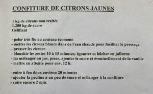 recette confiture citron