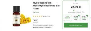 huile essentielle hélicryse